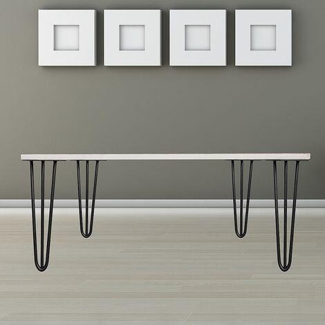 Tischbeine 4er Set Hairpin Leg Haarnadelbeine Tischgestell Tisch Tischkufen Legs Esstisch Harpins Tischbein 3 Streben Schwarz