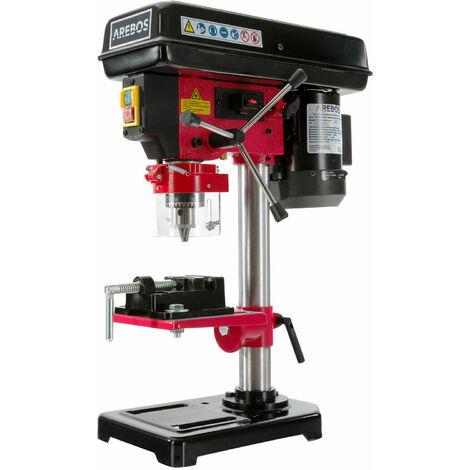 Tischbohrmaschine 500W mit Laser und inkl. Schraubstock
