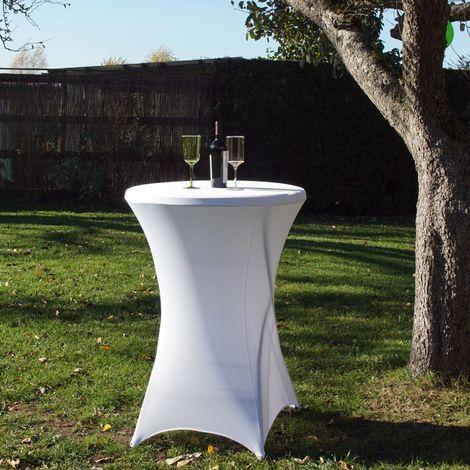 Tischdecke Husse weiß Decke 80cm
