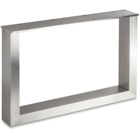 Tischgestell TAB echt Edelstahl Profil 80 x 40 mm bis Höhe: 720 mm und Tiefe: 800 mm