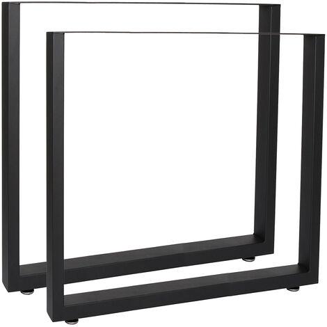 Tischkufen Tischbeine aus Vierkantprofilen 70x72cm schwarz pulverbeschichtet Tischgestell Tischfüße