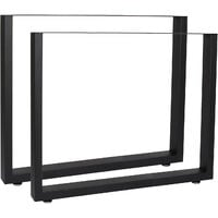 Tischkufen Tischbeine aus Vierkantprofilen 80x72cm schwarz pulverbeschichtet Tischgestell Tischfüße