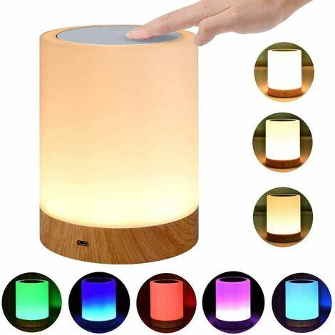 Tischlampe für Schlafzimmer Wohnzimmer LED Nachttischlampe, Touch Dimmbar Atmosphäre
