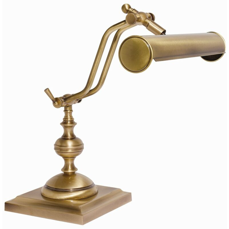 Tischlampe Messing Schreibtischleuchte in Bronze