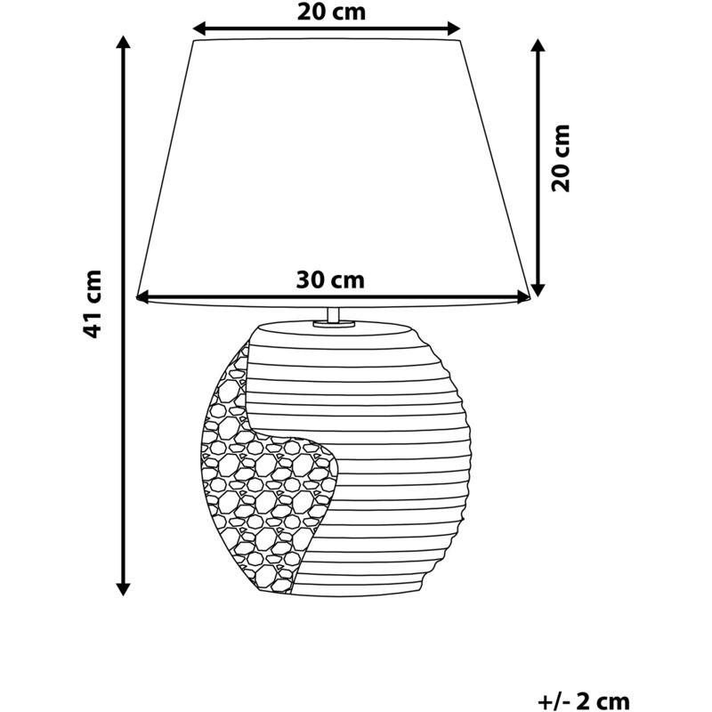 Tischleuchte schwarz-silber 41 cm ESLA
