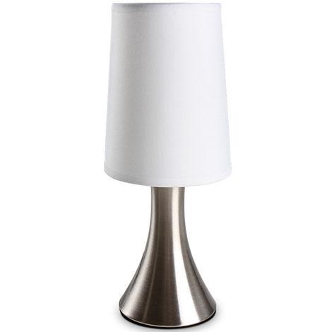 Tischlampe Tischleuchte Nachttischlampe mit Touch-Dimmung max. für 40-Watt-Glühlampen (E14)