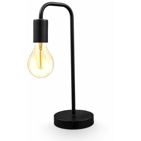 Tischlampe Vintage Tischleuchte Retro Dekolicht Wohnraum Flur Edison E27 schwarz