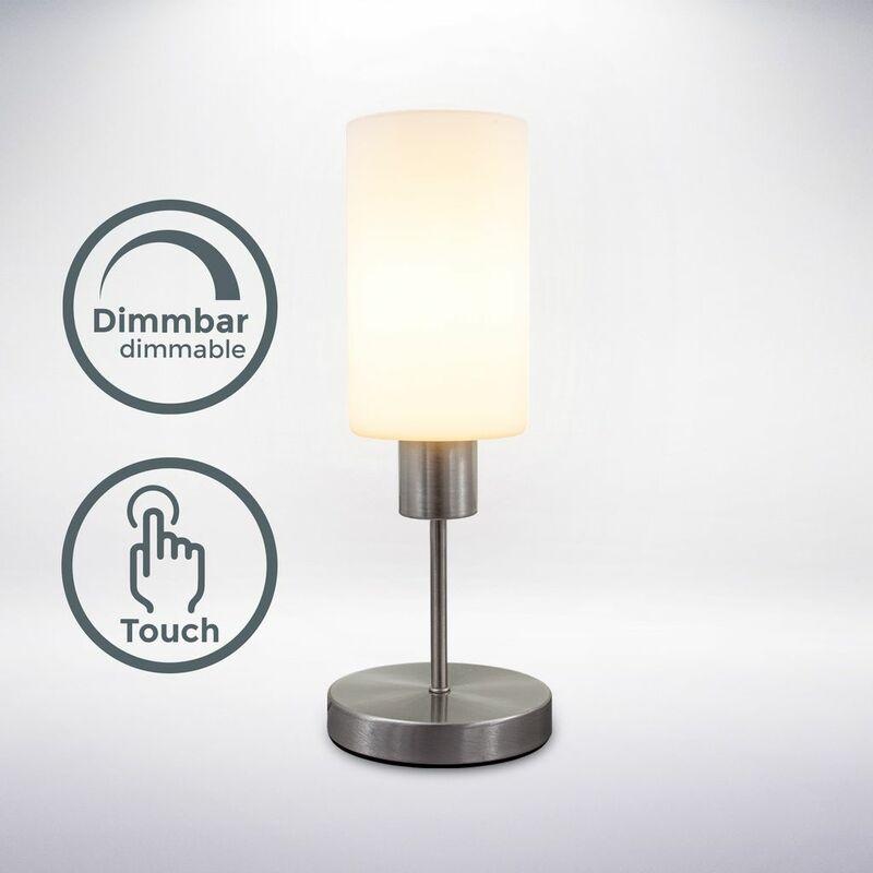 Tarifa Tischleuchte Lese Nacht Schreib Tisch Deko Leuchte Lampe mit Touchdimmer