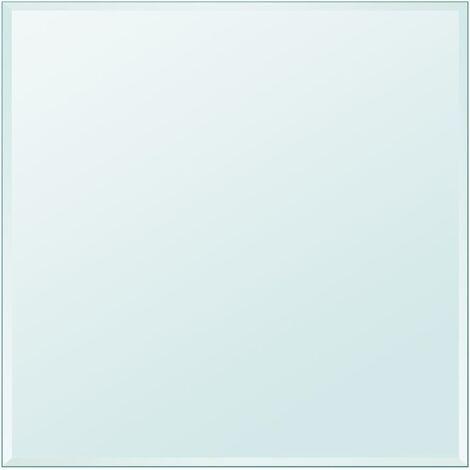 Tischplatte aus gehärtetem Glas quadratisch 800x800 mm