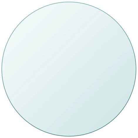 Tischplatte aus gehärtetem Glas rund 400 mm