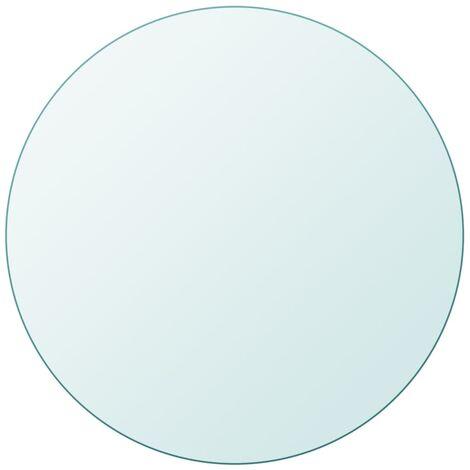 Tischplatte aus gehärtetem Glas rund 900 mm