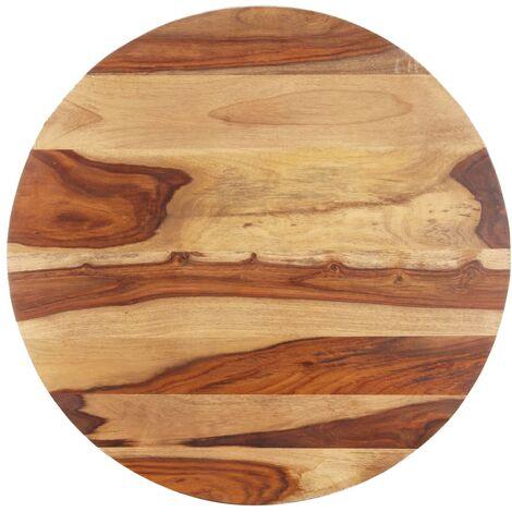 Tischplatte Massivholz Palisander Rund 15-16 mm 50 cm