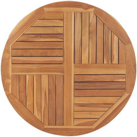 Tischplatte Massivholz Teak Rund 2,5 cm 90 cm