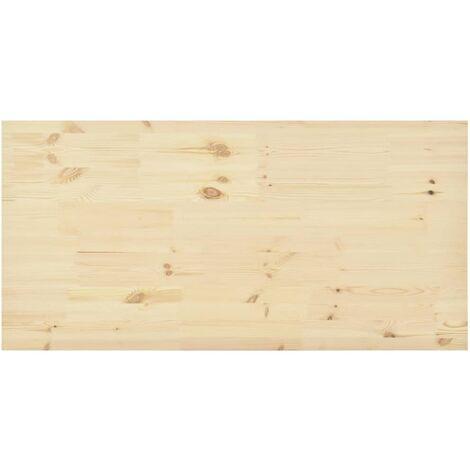 Tischplatte Natur Kiefernholz Rechteckig 140×70×2,5 cm