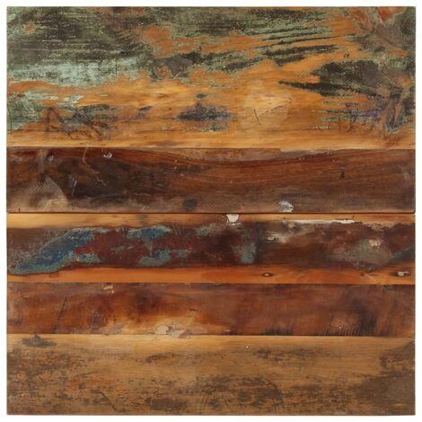 Tischplatte Quadratisch 60x60 cm 15-16 mm Recyceltes Massivholz
