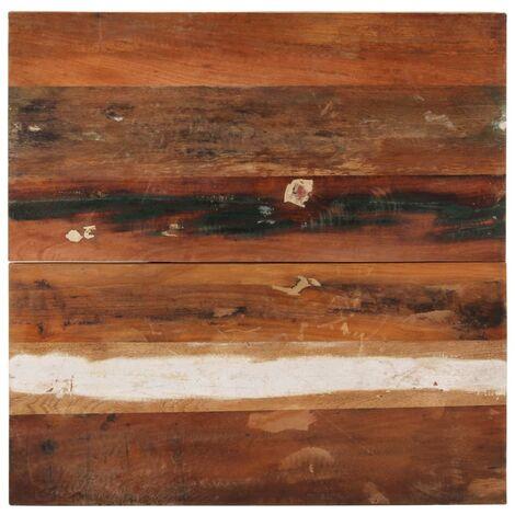 Tischplatte Quadratisch 70x70 cm 25-27 mm Recyceltes Massivholz