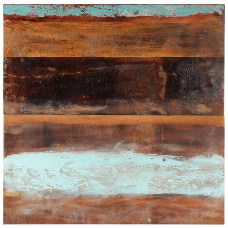 Tischplatte Quadratisch 80x80 cm 25-27 mm Recyceltes Massivholz