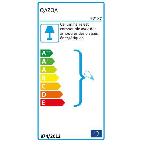 Tissu Abat-jour en lin noir 45/25 Qazqa Rond - 92187