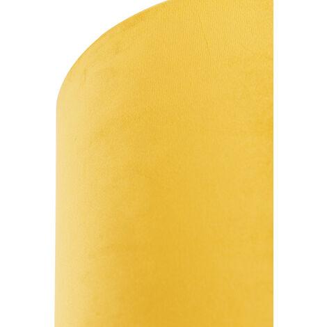 Tissu Abat-jour en velours jaune 20/20/20 avec intérieur doré Qazqa Cylindre / rond - 97502