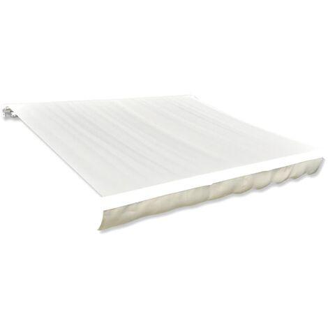 Tissu d'auvent Toile Crème 4 x 3 m (cadre non inclus)