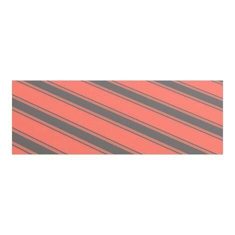 Tissu d'auvent toile rayure rouge noir store banne 4X3m