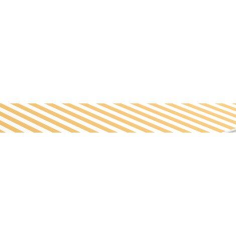 Tissu d'auvent toile store banne rayure jaune blanc pour store 3X2m