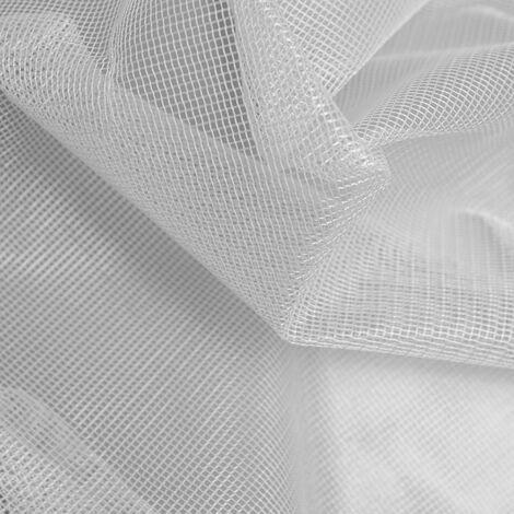 Tissu maille carrée effet moustiquaire Blanc 3 m - Blanc