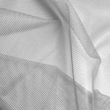 Tissu maille carrée effet moustiquaire Gris 3 m - Gris