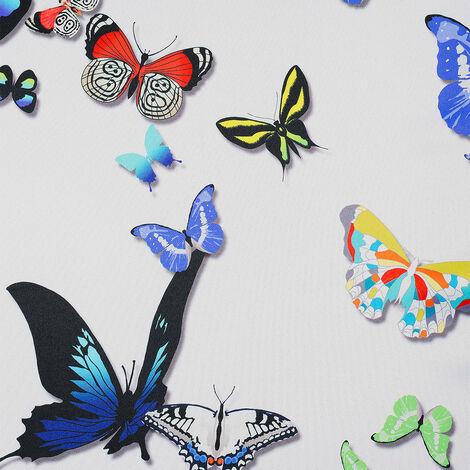 Tissu obscurcissant motif papillons blanc cassé 145 x 260 cm - blanc cassé