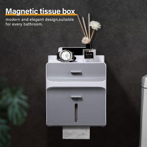 Tissue Box Cover Wall Waterproof Toilet Paper Holder Shelf Container Storage Organiser Bathroom Kitchen