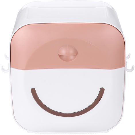 Tissue Holder Wall Shelf Paper Tube Pink Storage Box