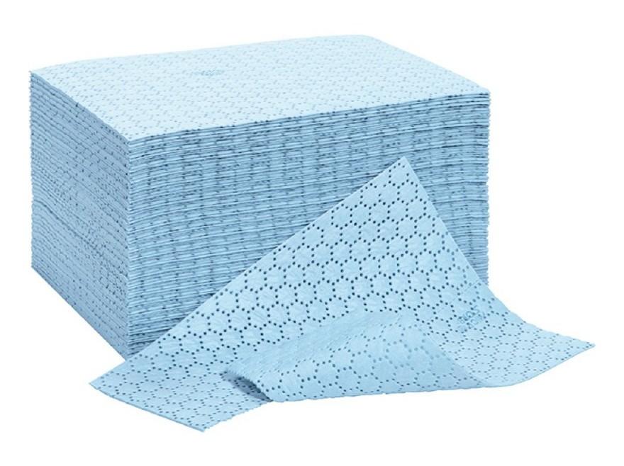 FP - Tissus absorbant huile bleu renforcé 40x50cm (Par 100)