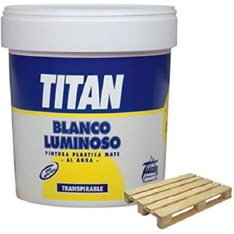Titan Pintura blanco mate transpirable 5 Kg