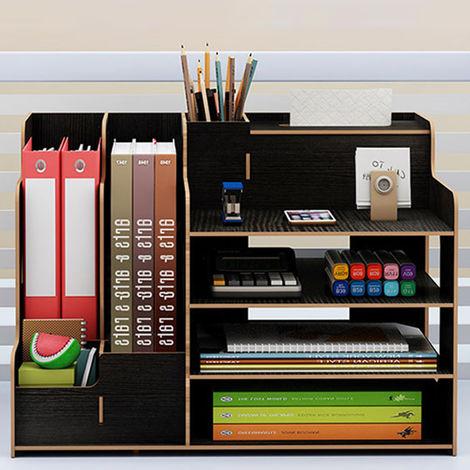 Titolare della carta Scaffale per libri in legno Organizzatore per scrivania