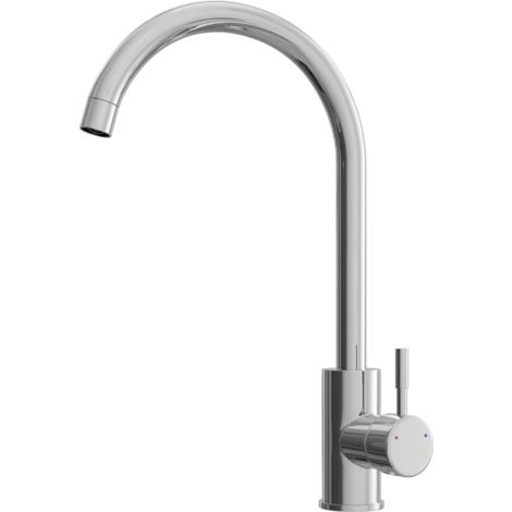 Tivoli Chrome Kitchen Mixer Tap with Swivel Spout - Swan Neck