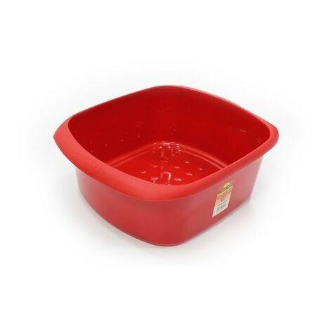 TML THW20-R Washing Up Bowel Rectangular Red 11 Litre