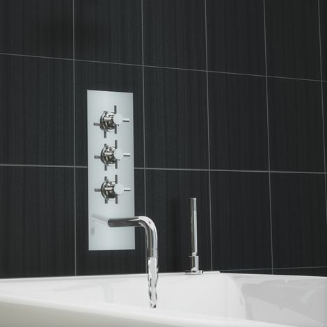 Tmv2 Concealed Thermostatic Cross Handle Shower Mixer Tap And Handheld