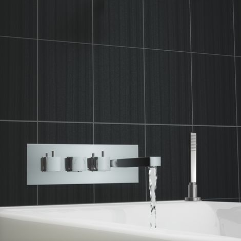 Tmv2 Square Concealed Thermostatic Bath Shower Mixer Tap With Handheld