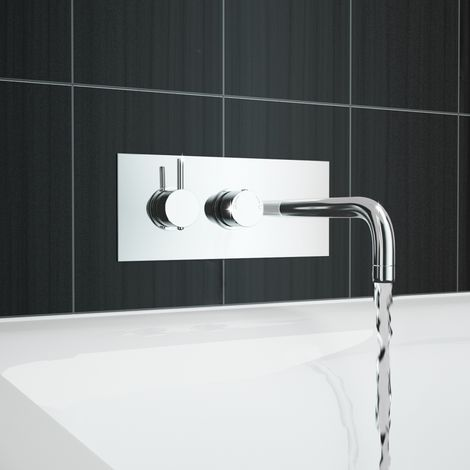 Tmv2 Thermostatic Wall Mounted Basin Or Bath Mixer Tap