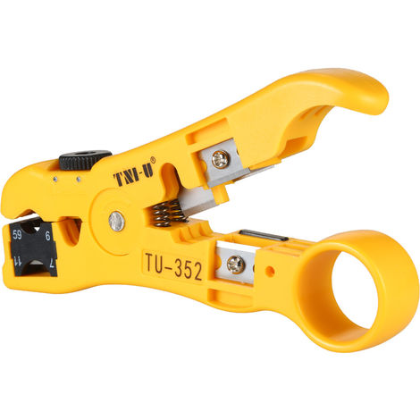 TNI-U TU-352 Multifunctional Wire Stripper for RG59/11/7/6 Cable Cutter Stripping Tool