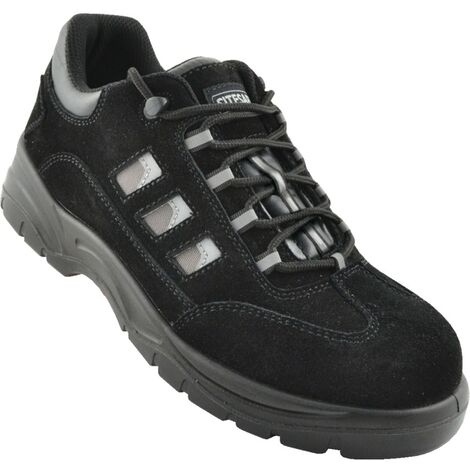 TNS Black Safety Trainers