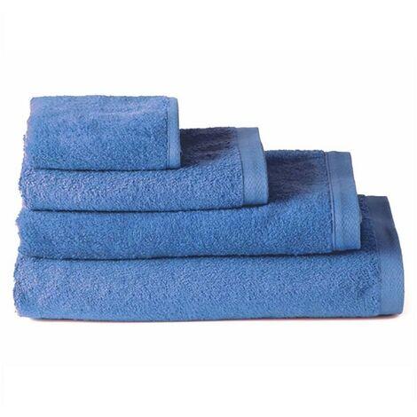 Toalla baño tocador algodón azul (30x50)