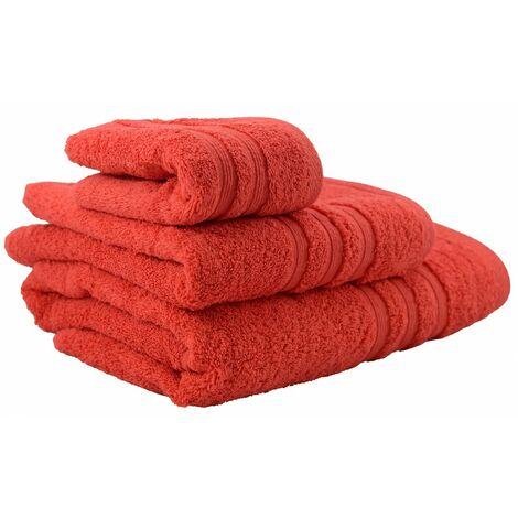 Toalla de baño lavabo roja (50x100)