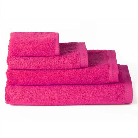 Toalla de baño tocador algodón fucsia, Hogar y Mas