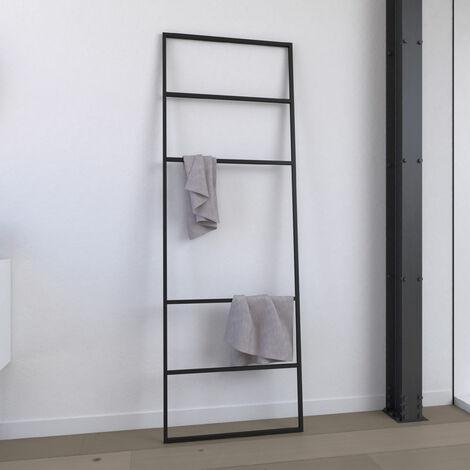 Toallero - 176x60x1,6 cm - Metal - negro mate - toallero - tipo taller - FACTO DARK