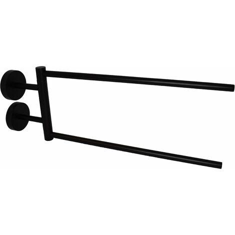 Toallero articulado en negro mate Capannoli Hoop HP111 MM