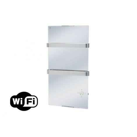 Toallero Calefactor Eléctrico con Panel de Cristal Efecto Espejo y Termostato ZAFIR V600T LUX