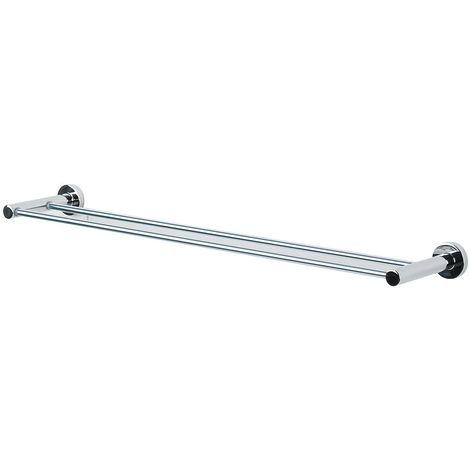 """Toallero con dos barras Spirella """"Atlantic"""" de metal cromado en color gris 60 x 12,5 cm"""