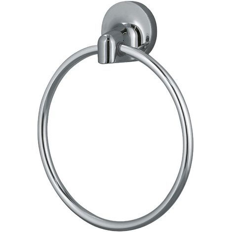 """Toallero de anilla Spirella """"Lagune"""" de metal cromado y vidrio en color gris Ø16,5 x 4,5 cm"""