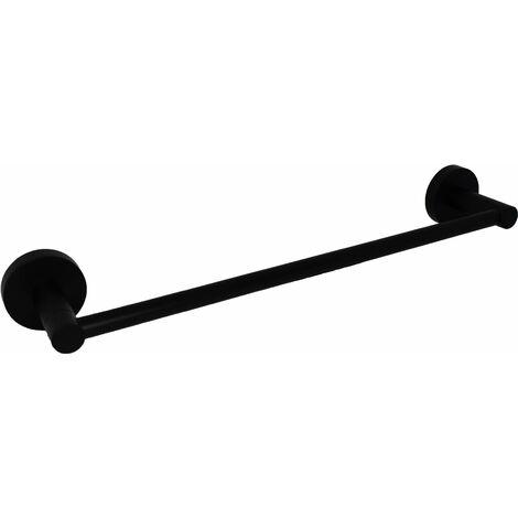 Toallero de baño negro mate Capannoli Hoop HP140 MM